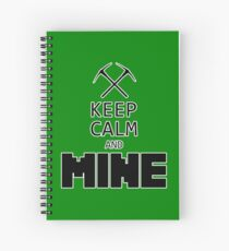 Minecraft - Keep Calm and Mine Spiral Notebook