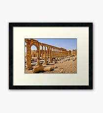 Palmyra More Collonades  Framed Print