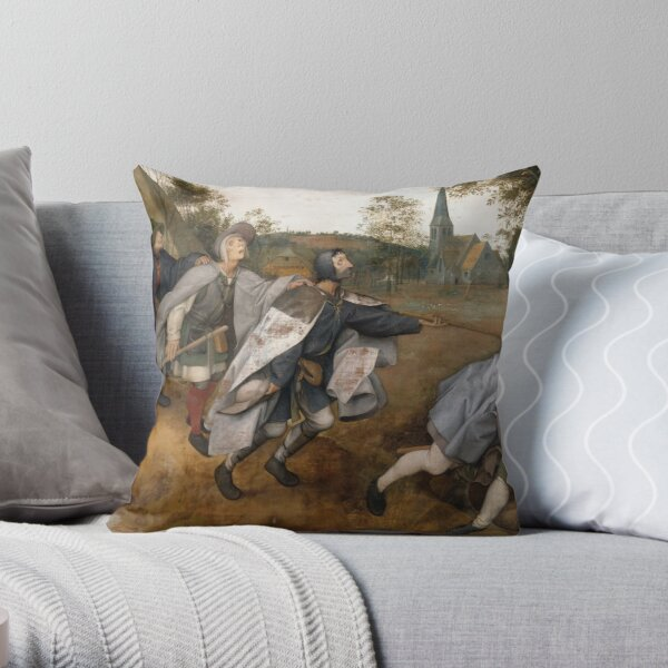 The Blind Leading the Blind, The Parable of the Blind Throw Pillow