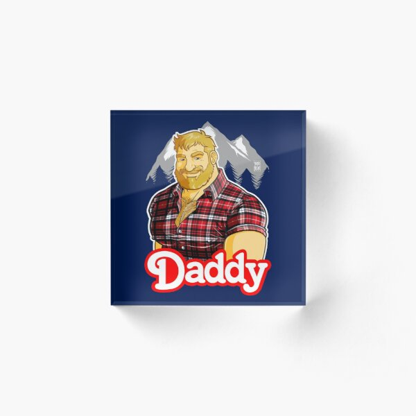DADDY MIKE LIKES THE MOUNTAIN Acrylic Block