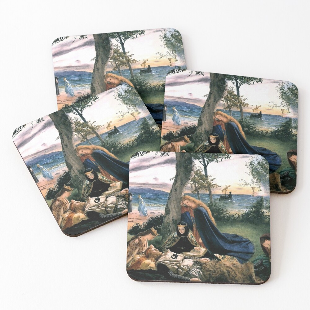 The Death of King Arthur - James Archer 1860 Coasters (Set of 4)