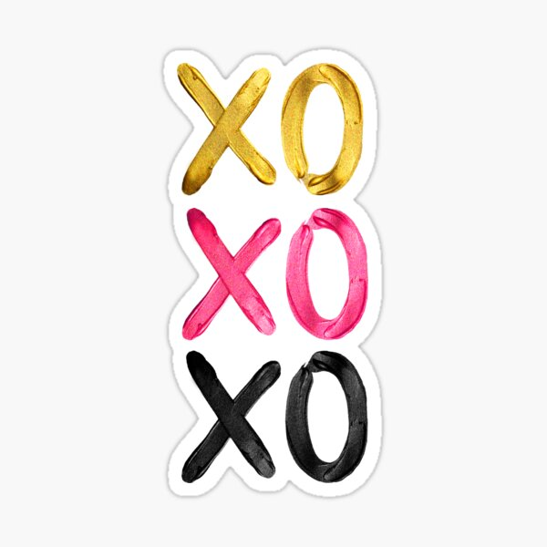 Glamorous XO's  Sticker
