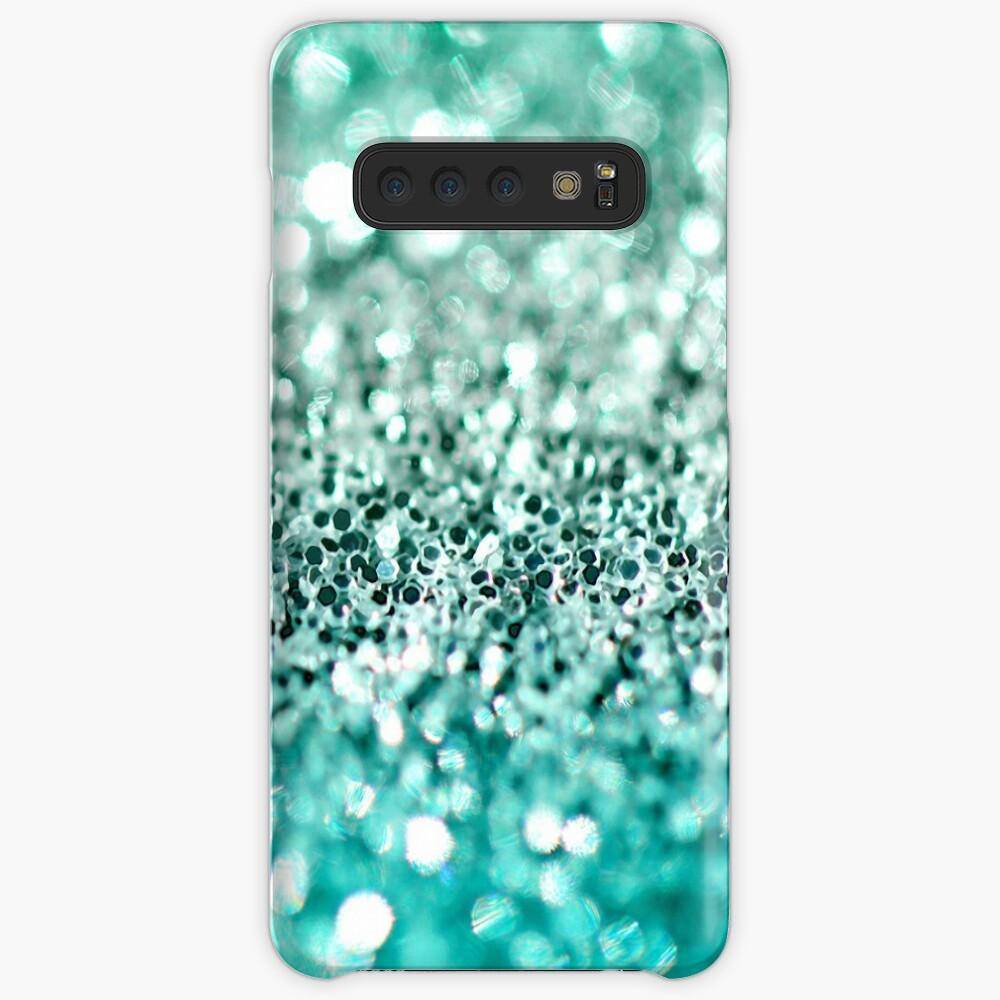 Aqua Glitter Funda y vinilo para Samsung Galaxy