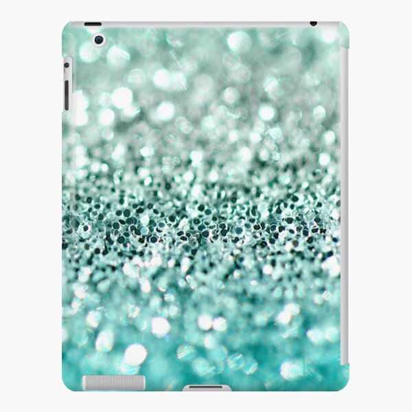 Aqua Glitter iPad Snap Case