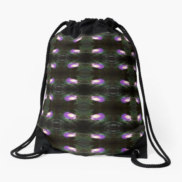 glowing old fashioned rose elegance pattern 2 Drawstring Bag