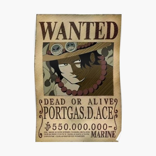 Ace wanted poster Poster