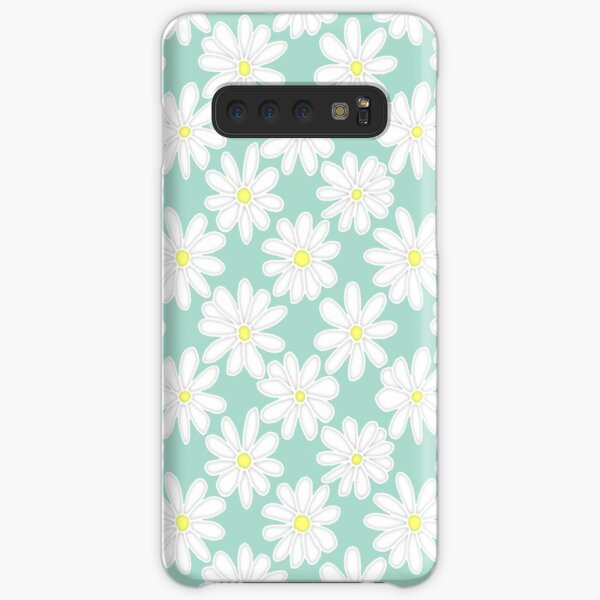 Bright Happy Daisies on Mint Samsung Galaxy Snap Case