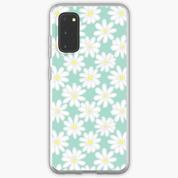 Bright Happy Daisies on Mint Samsung Galaxy Soft Case