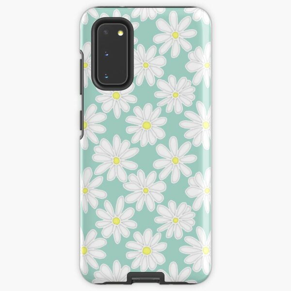 Bright Happy Daisies on Mint Samsung Galaxy Tough Case