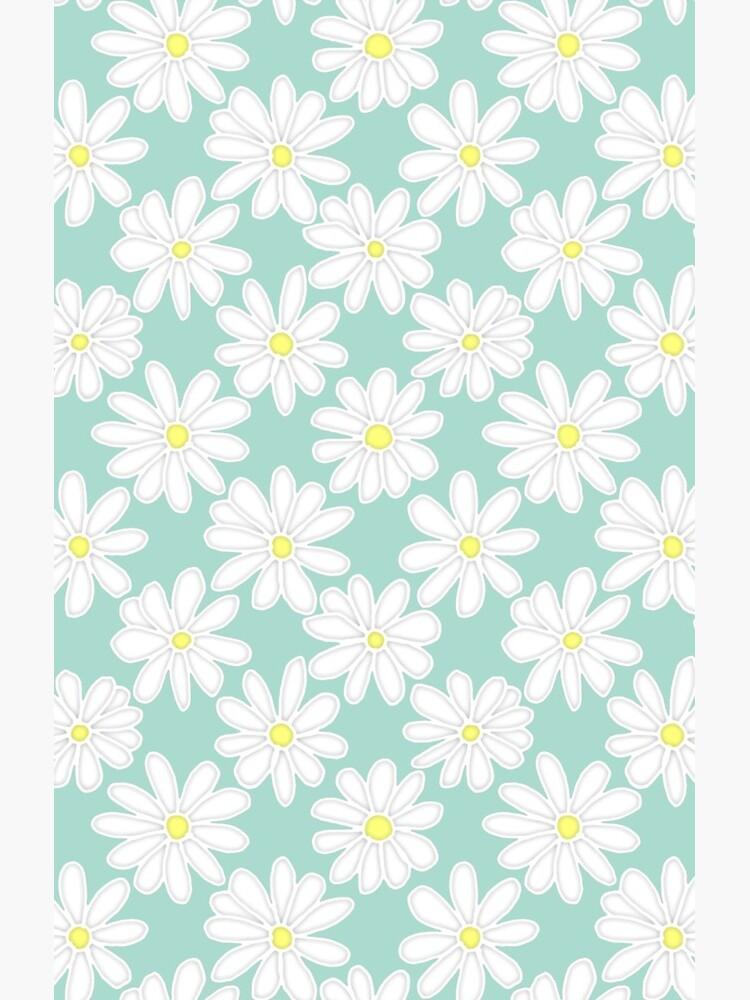 Bright Happy Daisies on Mint by PerrinLeFeuvre