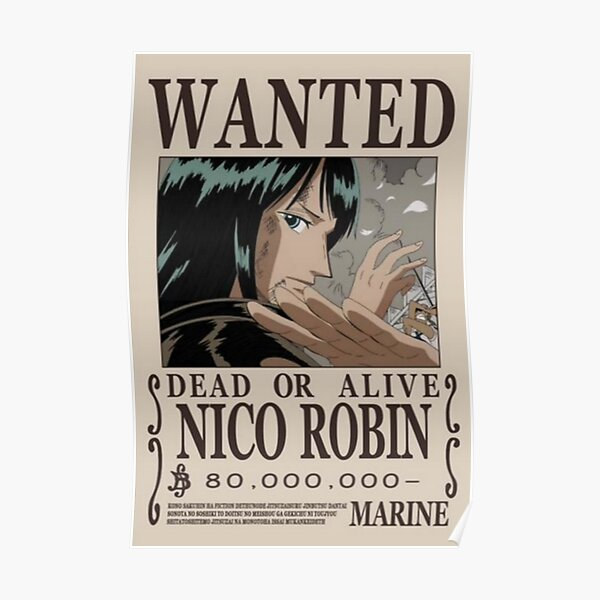 Nico Robin a d'abord voulu poster Poster