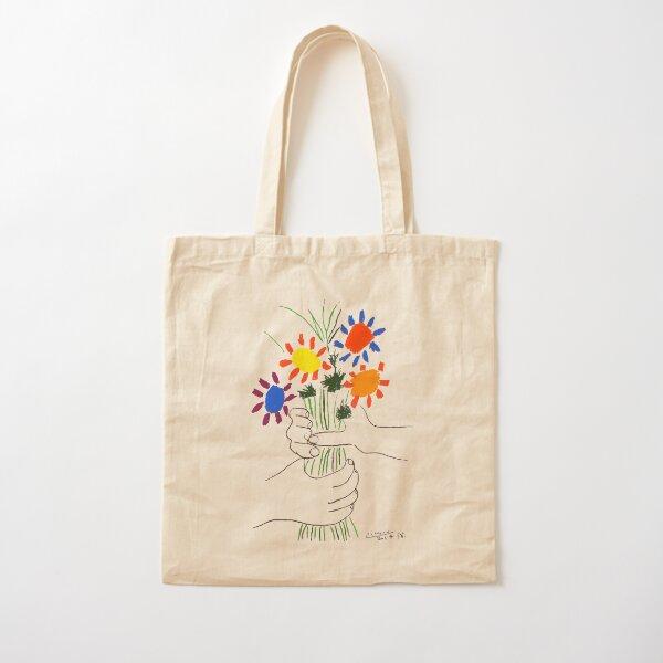 Pablo Picasso Bouquet Of Peace 1958 (Flowers Bouquet With Hands) or Le Bouquet de la Amitié (friendship) Cotton Tote Bag