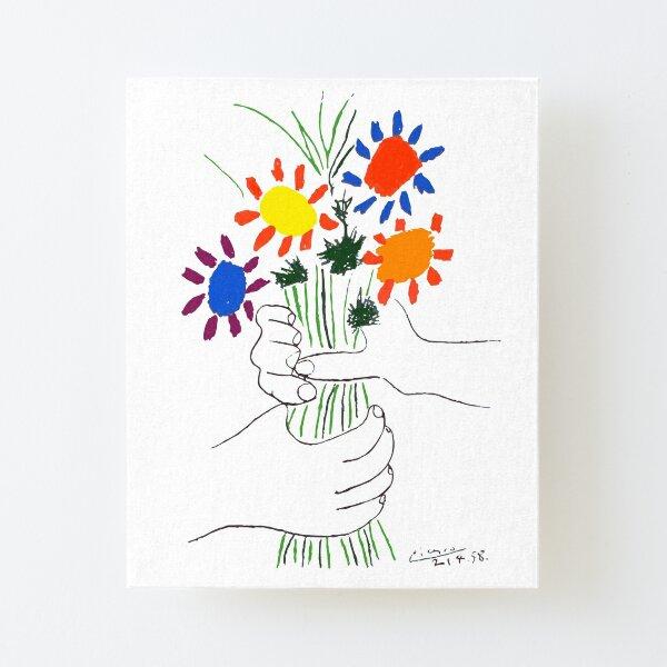 Pablo Picasso Bouquet Of Peace 1958 (Flowers Bouquet With Hands) or Le Bouquet de la Amitié (friendship) Canvas Mounted Print