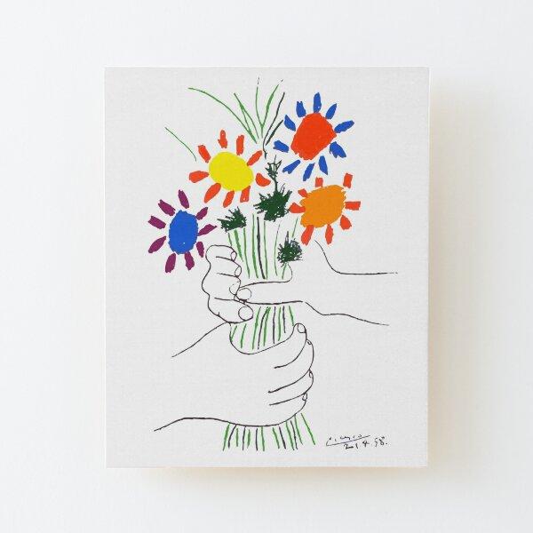 Pablo Picasso Bouquet Of Peace 1958 (Flowers Bouquet With Hands) or Le Bouquet de la Amitié (friendship) Wood Mounted Print