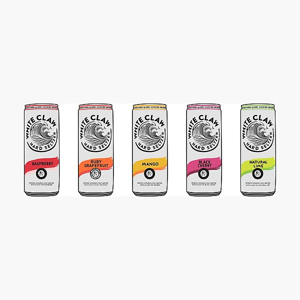 white claw life (variety pack) Photographic Print