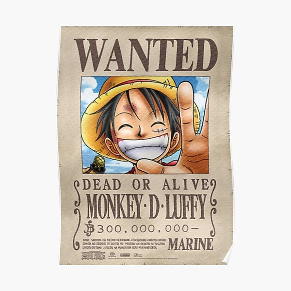 Luffy wanted poster Poster
