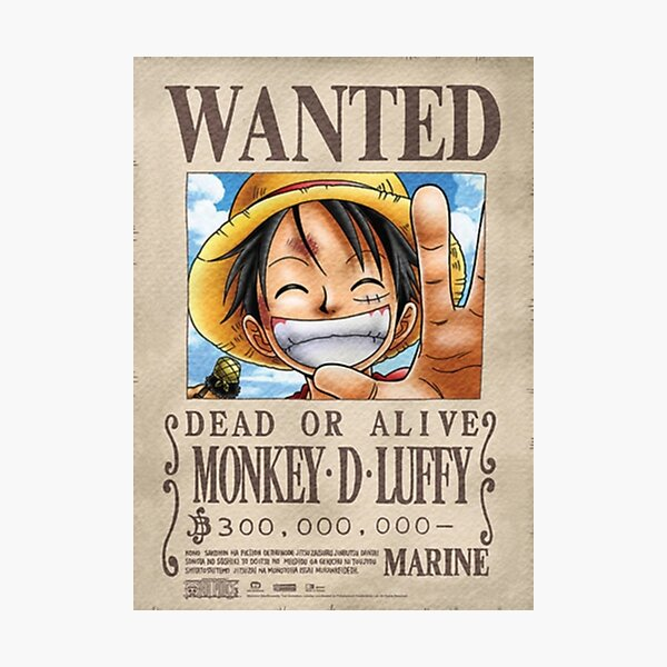 Luffy wanted poster Photographic Print
