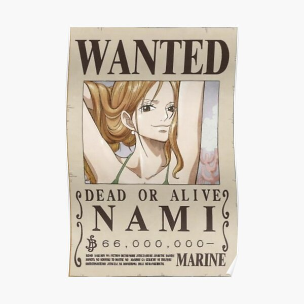 Nami wanted poster Poster