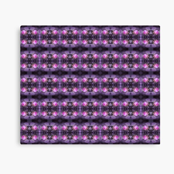 Old fashioned pink rose, purple texture pattern Canvas Print