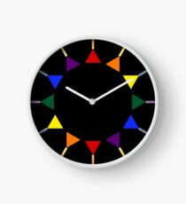 Band of Pride Triangles Clock