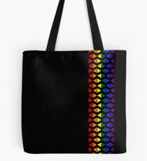 Vertical Band of Pride Triangles Tote Bag