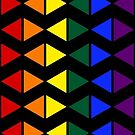 Vertical Band of Pride Triangles by technoqueer