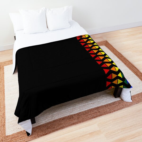 Vertical Band of Pride Triangles Comforter