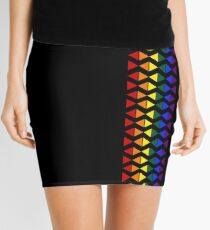 Vertical Band of Pride Triangles Mini Skirt