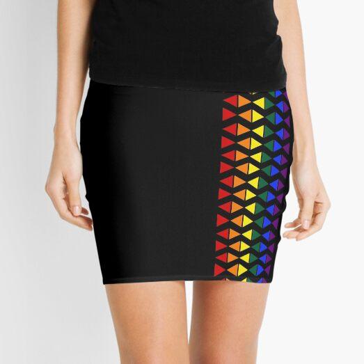 Vertical Band of Pride Triangles Mini Skirt