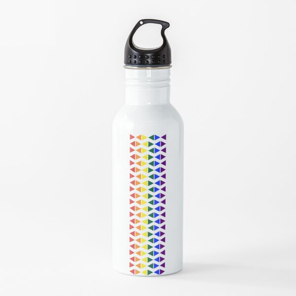 Vertical Band of Pride Triangles Water Bottle