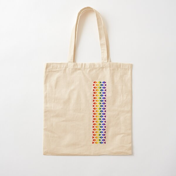 Vertical Band of Pride Triangles Cotton Tote Bag