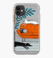 SOFA ORANGE Coque et skin adhésive iPhone