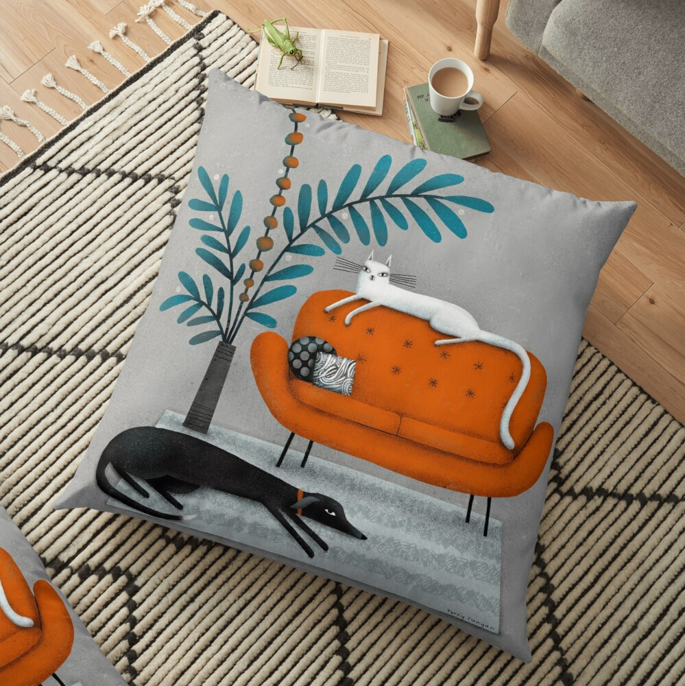 ORANGE SOFA Floor Pillow