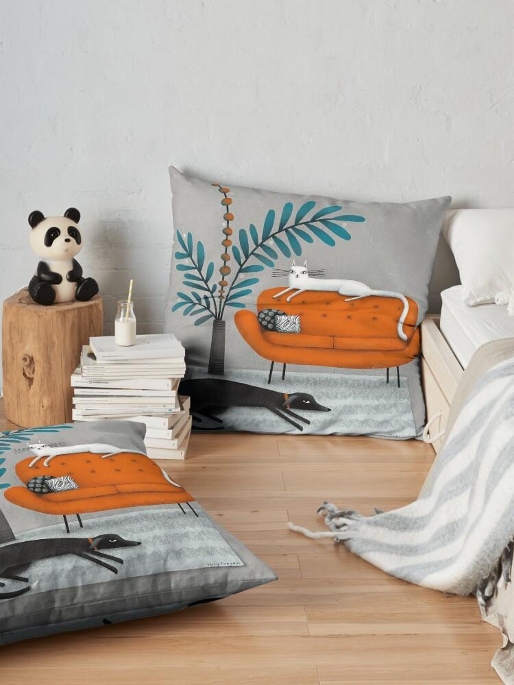 Alternate view of ORANGE SOFA Floor Pillow