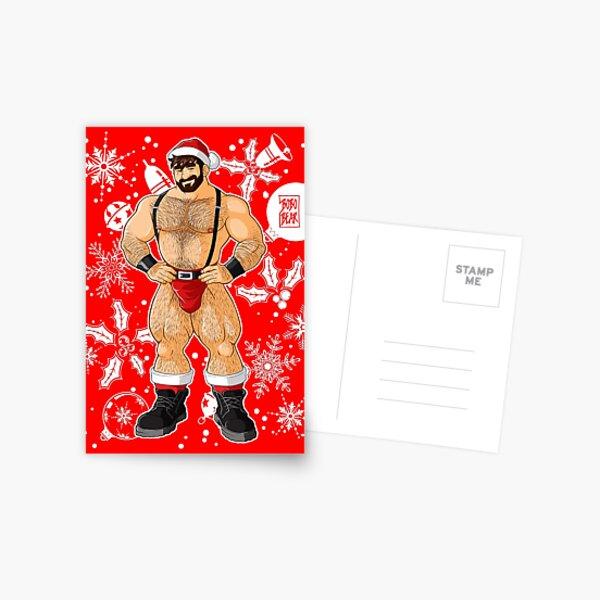 ADAM LIKES SANTA Postcard