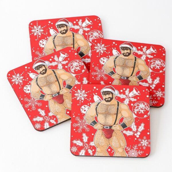 ADAM LIKES SANTA Coasters (Set of 4)