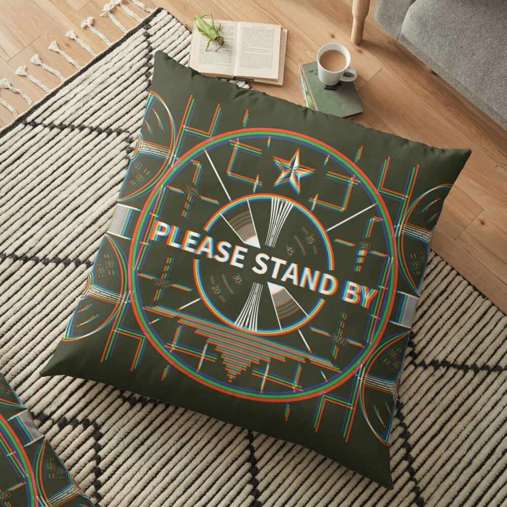 Please stand by Kaliedoscope Floor Pillow