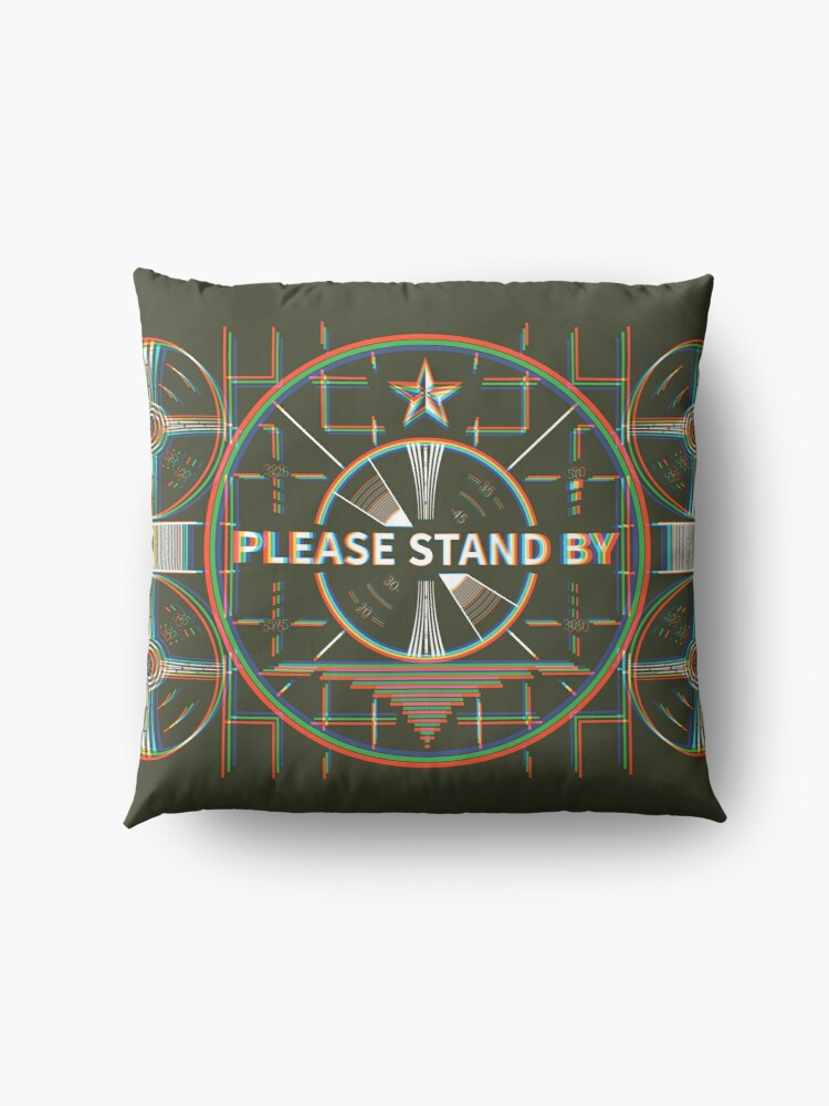 Alternate view of Please stand by Kaliedoscope Floor Pillow