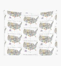 United States of Music Wall Tapestry