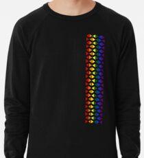 Vertical Band of Pride Triangles Lightweight Sweatshirt