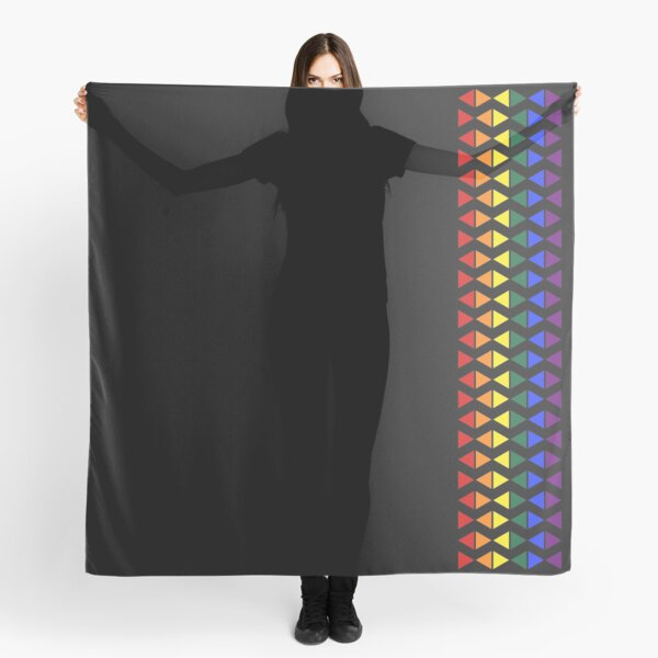 Vertical Band of Pride Triangles Scarf