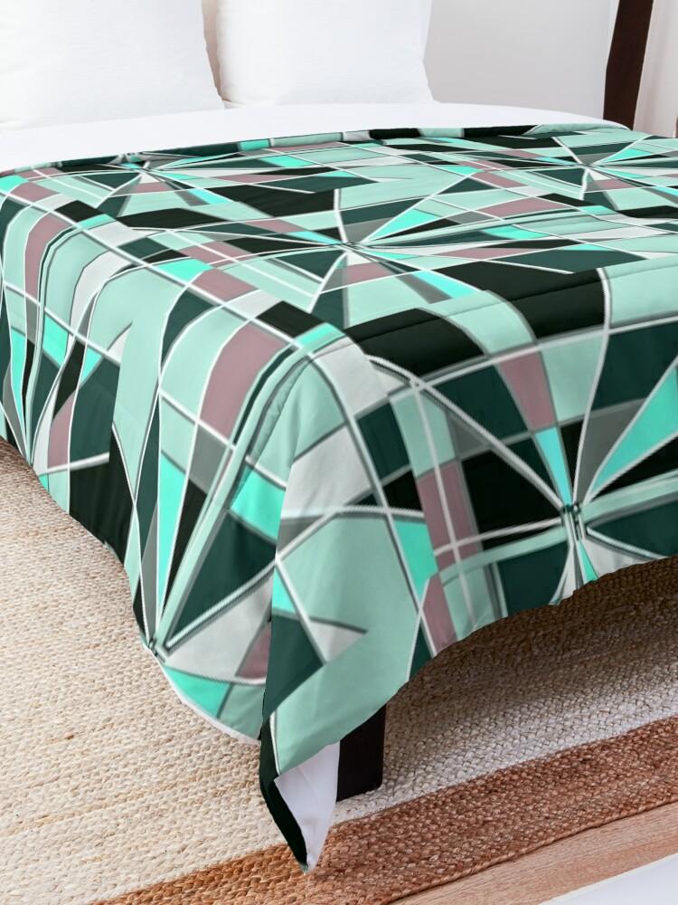 Alternate view of Zooming Teal Comforter