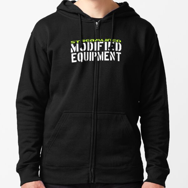 Streamlined Modified Equipment Zipped Hoodie