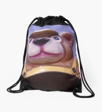 Yellow Bear Drawstring Bag