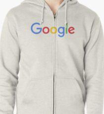 New Google Logo Zipped Hoodie