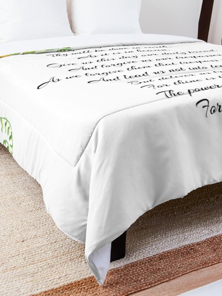 Alternate view of Lords Prayer Comforter