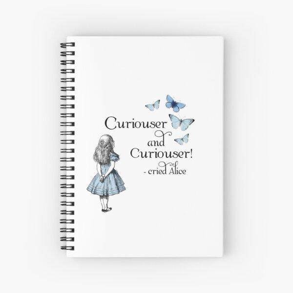 Alice im Wunderland Neugieriger Spiralblock