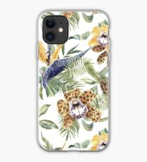 Jungle Animal Print Orchids iPhone Case