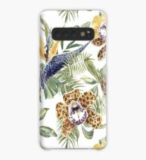 Jungle Animal Print Orchids Case/Skin for Samsung Galaxy