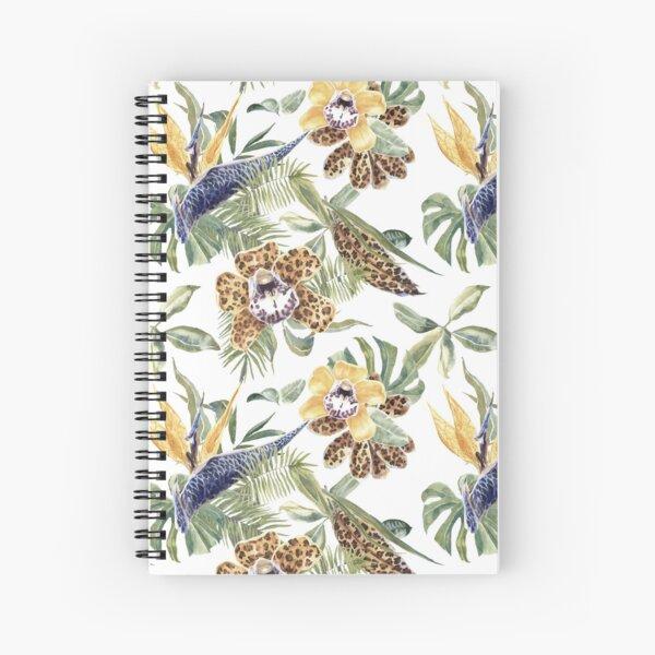 Jungle Animal Print Orchids Spiral Notebook